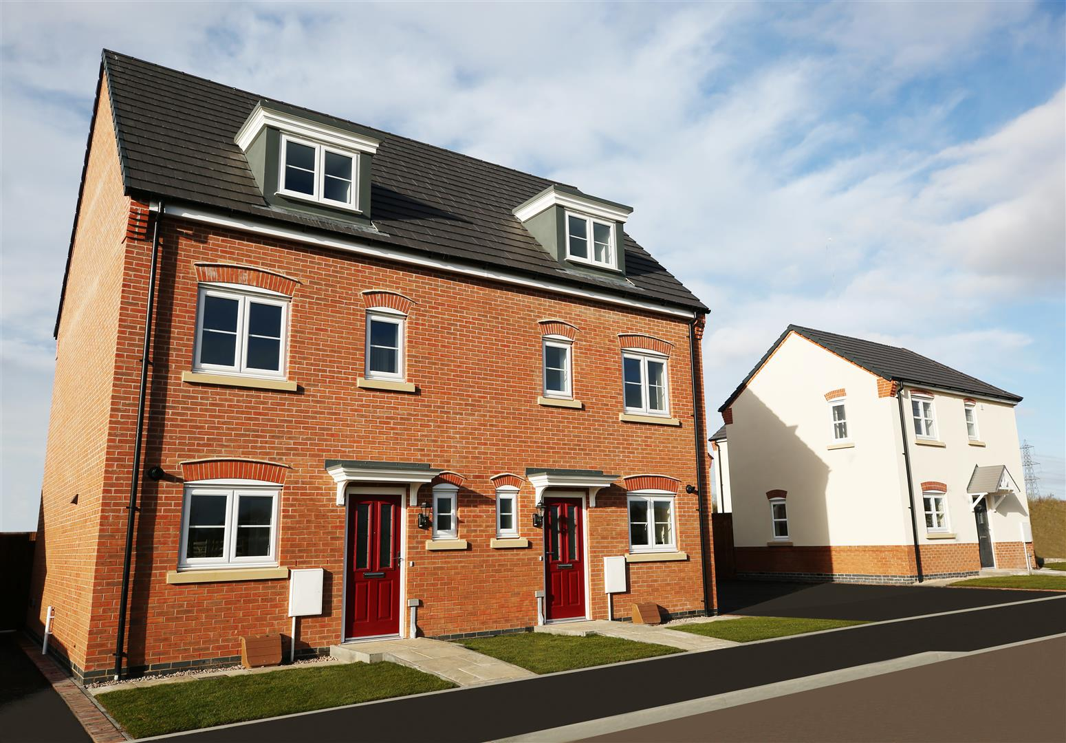 House Semi Detached Archives Roy Green Full Brick Brand New Home On Wiring To Garage The Bunting Is A 3 Bedroom Storey Comprising Of Lounge Kitchen Cloakroom Bedrooms En Suite Master Family Bathroom